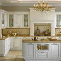 Кухня из беленного дуба