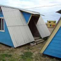 Домик треуголка «Семейный» 3-4-х местный с двумя комнатами с общ. верандой