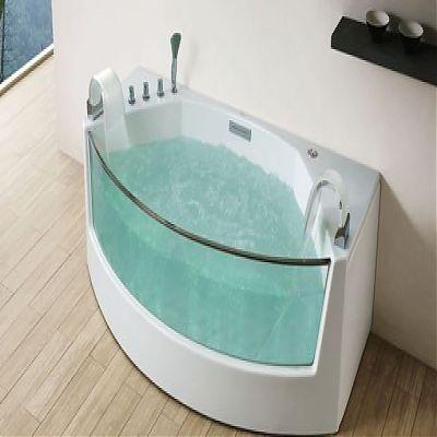 ванная с гидромассажем угловая