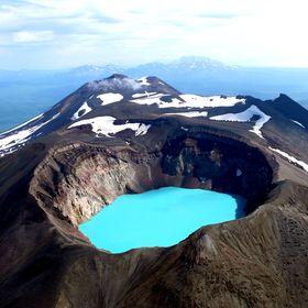 Долина Гейзеров и кальдера вулкана Узон.
