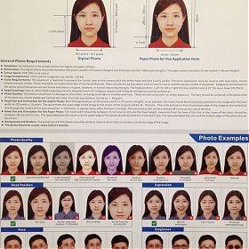 оформления визы в Китай, требования к фотографиям