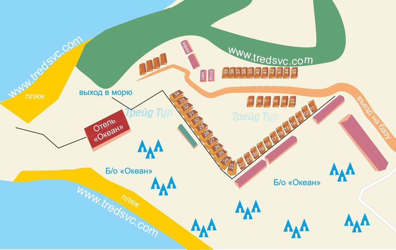 Схема базы отдыха «Форт Андреевский»