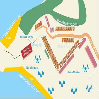 Схема базы Форт Андреевский